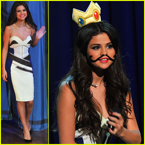 Selena Gomez: Princess Peach on 'Jimmy Fallon'!