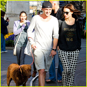 Tom Felton & Jade Olivia: Dog Walking Duo