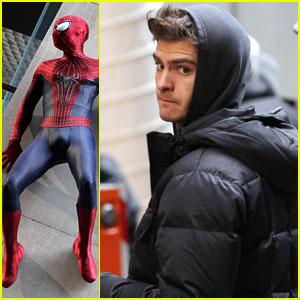 Andrew Garfield: 'Spider-Man' Stunts in Midtown