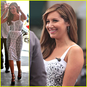 Ashley Tisdale: Darker Hair at The Grove!