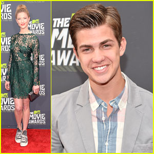 Cameron Palatas & Caitlin Gerard -- MTV Movie Awards 2013