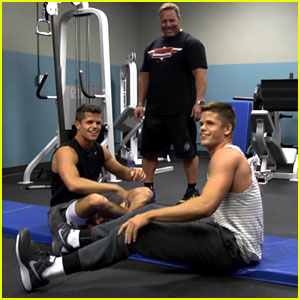 Charlie & Max Carver: 'Teen Wolf' Workout – Watch Now ...