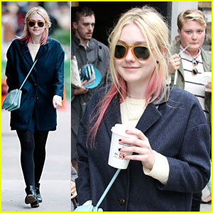 Dakota Fanning: SoHo Coffee Cute