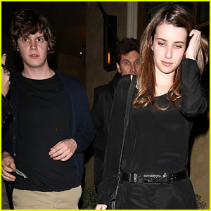 Emma Robert & Evan Peters: Birthday Party Pair!
