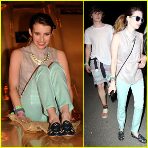 Emma Roberts: Neon Carnival with Evan Peters!