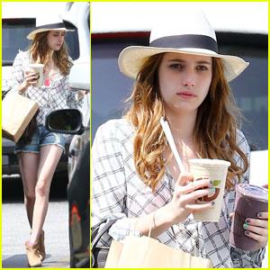 Emma Roberts: Last Day on 'Delirium'