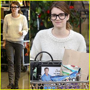 Emma Roberts: Sunday Grocery Shopper