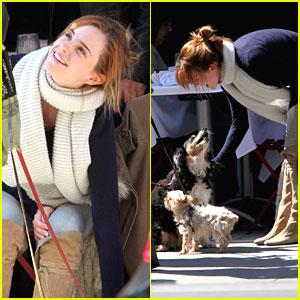 Emma Watson: Puppy Lover