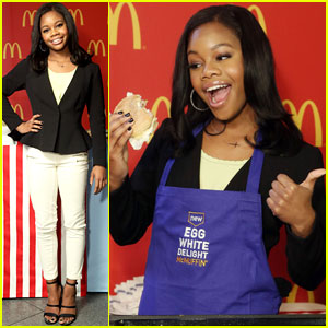Gabby Douglas: McDonald's Chef in Times Square!