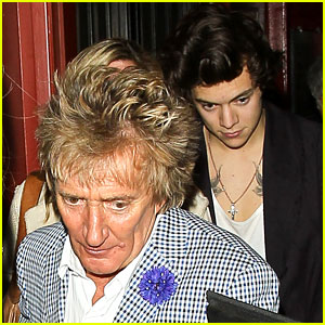 Harry Styles: Dinner with Rod Stewart!