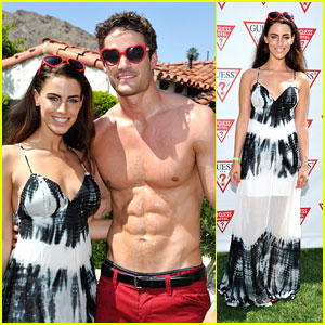 Jessica Lowndes & Thom Evans: Guess Hotel Pool Party