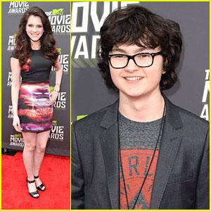 Kara Hayward & Jared Gilman -- MTV Movie Awards 2013