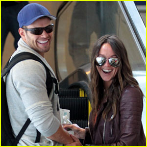Kellan Lutz: LAX Departure with Sharni Vinson