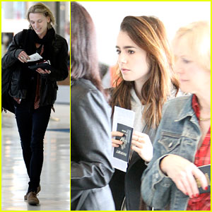 Lily Collins & Jamie Campbel