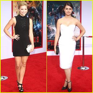 Maia Mitchell & Olivia Holt: 'Iron Man 3' Premiere