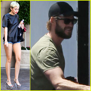 Miley Cyrus &#038; Liam Hemsworth: Separate Monday Outings