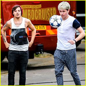 Niall Horan & Louis Tomlinson: Soccer Studs!