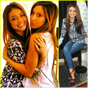 Sarah Hyland & Ashley Tisdale: Sirius Radio Run-In