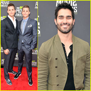 Tyler Hoechlin -- MTV Movie Awards 2013 with Max & Charlie Carver