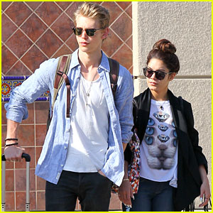 Vanessa Hudgens & Austin Butler Return From Vegas
