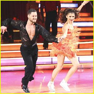 Zendaya & Val Chmerkovskiy: Jive Dance Off; Still Safe on DWTS!