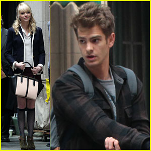 Andrew Garfield Dons Elbow Pads for 'Spider-Man 2' Stunts