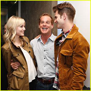 Emma Stone & Andrew Garfield: Bull at Brits on Broadway
