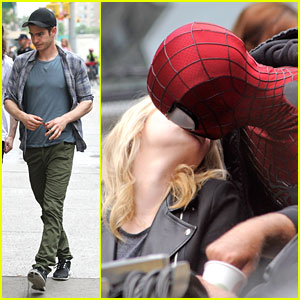 Andrew Garfield: Spider-Man Masked Kiss for Emma Stone