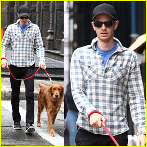 Andrew Garfield: Rainy Day Out with Ren!
