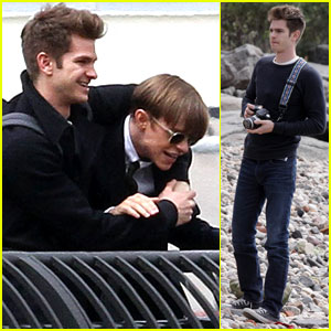 Andrew Garfield: 'Spider-Man' Filming with Dane DeHaan