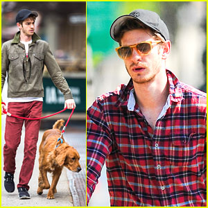 Andrew Garfield Walks Ren Before Bike Ride
