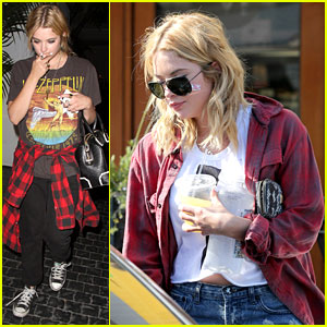 Ashley Benson: Night Out with Tyler Blackburn!