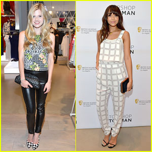 Ashley Madekwe & Ana Mulvoy-Ten Celebrate British New Wave with Topshop