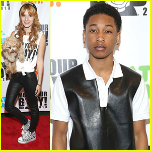 Bella Thorne & Jacob Latimore: Move Your Body Flash Workout Event!