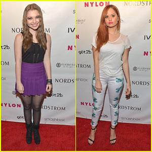 Debby Ryan & Sammi Hanratty: Nylon Young Hollywood Party 2013
