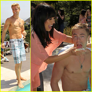 Derek Hough: Shirtless Pool Party Fun!