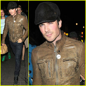 Ian Somerhalder: Late Dinner with Dad in London