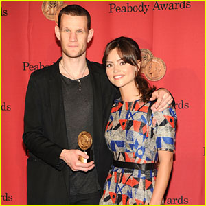 Jenna-Louise Coleman: Peabody Awards 2013 with Matt Smith