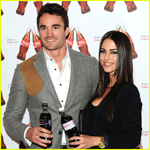 Jessica Lowndes & Thom Evans Share A Coke