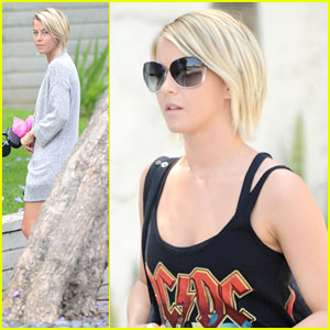 Julianne Hough: Errands Before Darren Criss' Concert