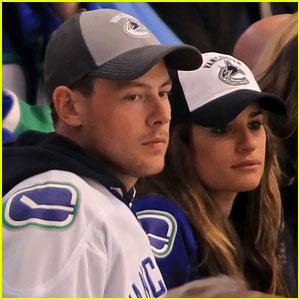 Lea Michele & Cory Monteith: Canucks Couple!