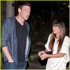 Lea Michele & Cory Monteith Dine at Cliff's Edge