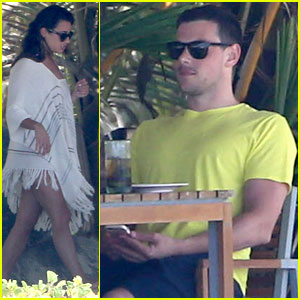 Lea Michele & Cory Monteith Vacation in Mexico!