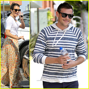 Lea Michele Gets Groceries; Cory Monteith Steps Out Solo