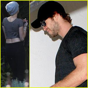 Liam Hemsworth Hits the Gym, Miley Cyrus Hits the Studio