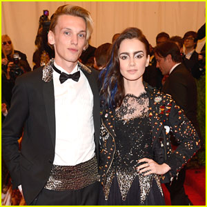 Lily Collins & Jamie Campbell Bower -- Met Ball 2013