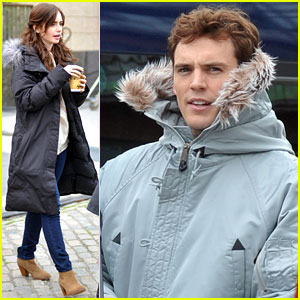 Lily Collins & Sam Claflin Film 'Love, Rosie' in Ireland
