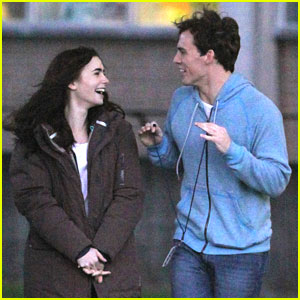 Lily Collins & Sam Claflin: Picnic in the Park for 'Love, Rosie'