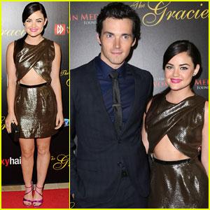 Lucy Hale & Ian Harding: Gracie Awards Gala 2013