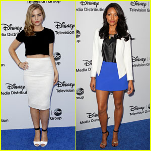 Maddie Hasson & Kylie Bunbury: 'Twisted' at Disney Upfronts 2013